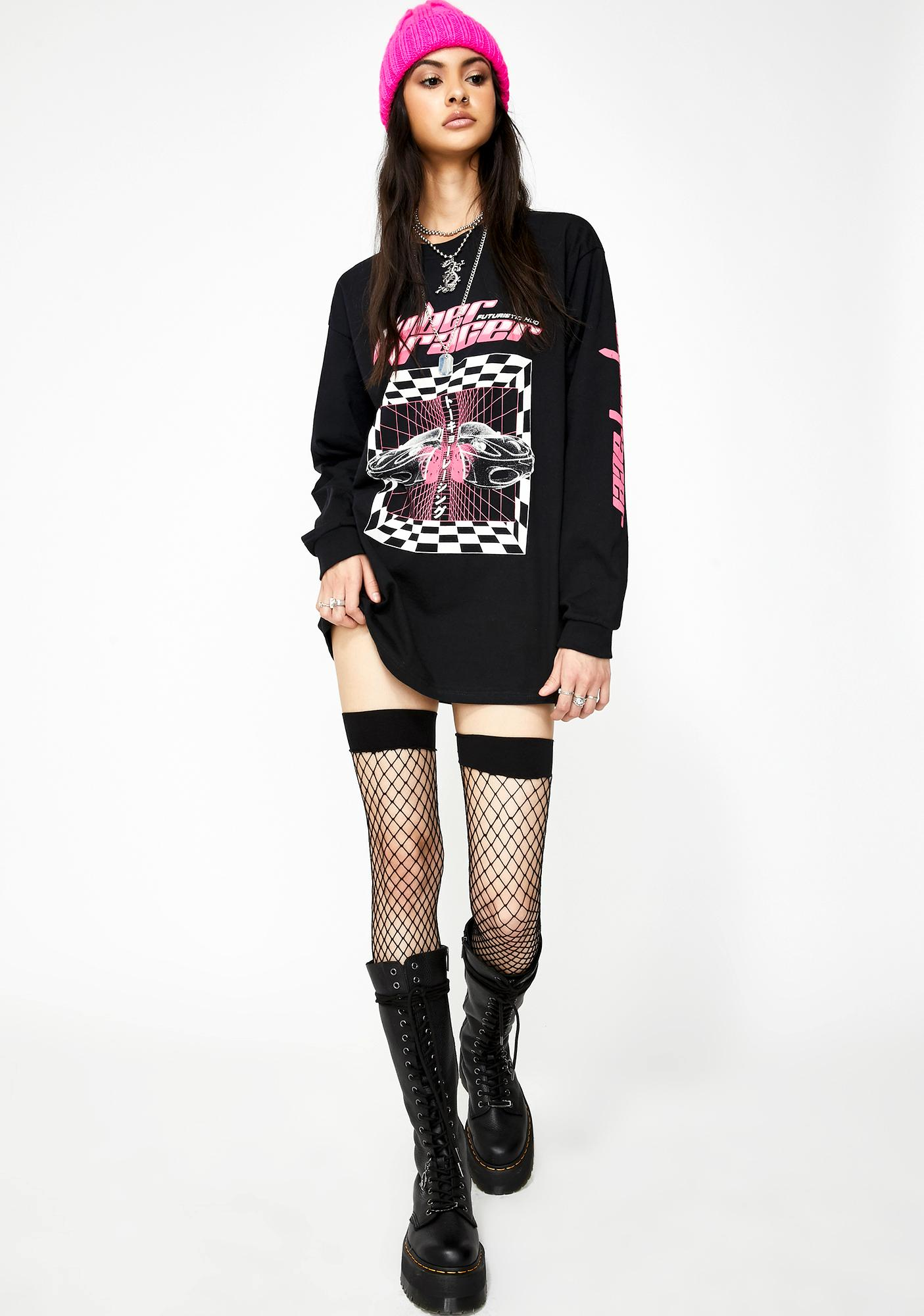 ILL INTENT Red Racer Long Sleeve Tee