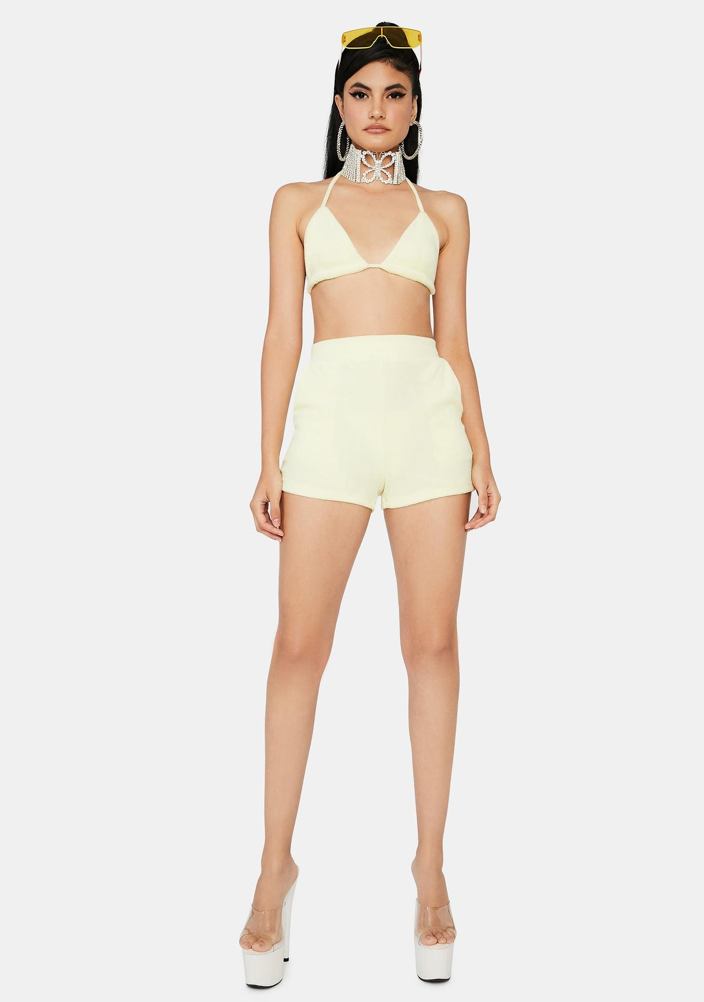 Poolside Heiress Terry Shorts Set