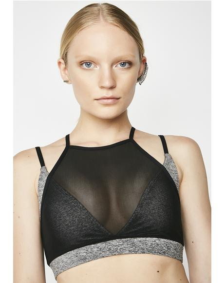 Slate Over It Sports Bra