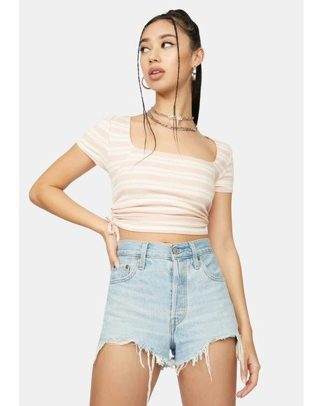 Connected Love Stripe Crop Top