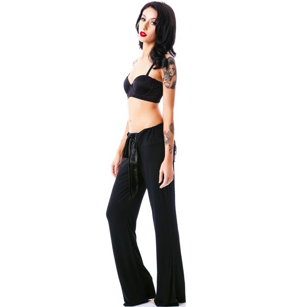 Saturday Night Sequin Pocket Pucker Back Pants