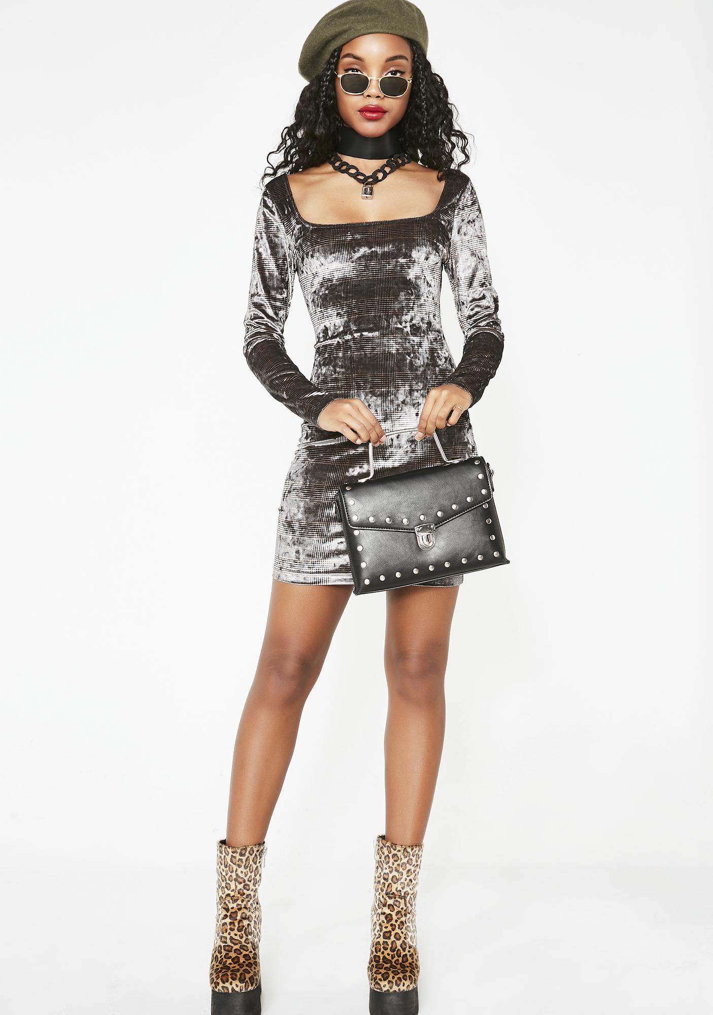 Certified Bae Velvet Dress