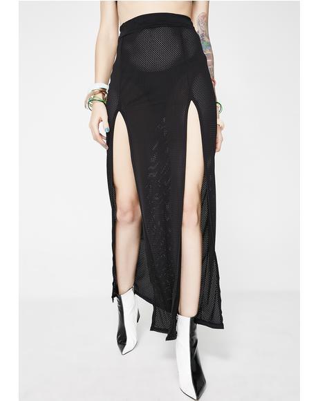 Dark Dreamer Slit Skirt