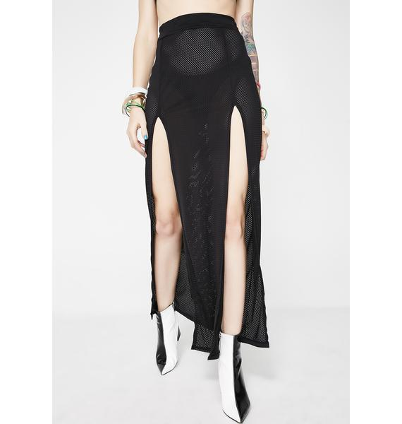 Club Exx Dark Dreamer Slit Skirt