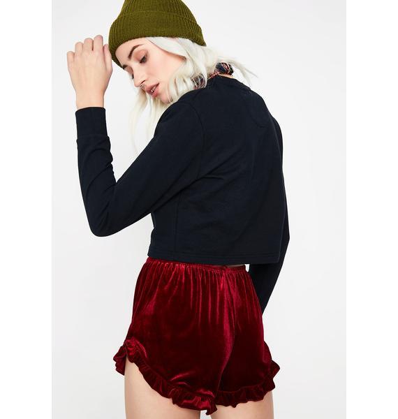 Nothing Wrong Velvet Shorts