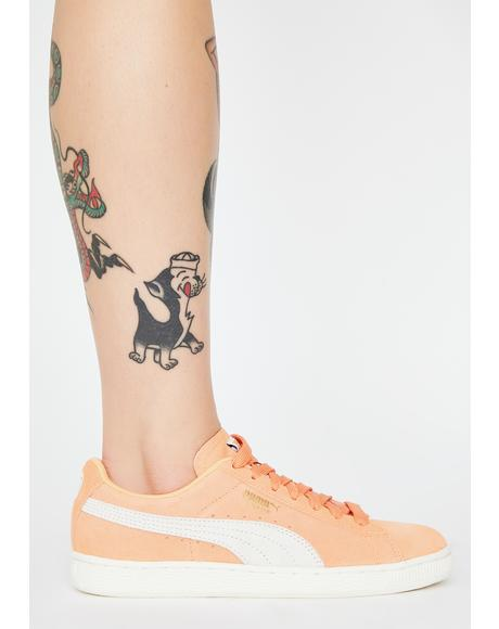 Coral Suede Classic Sneakers