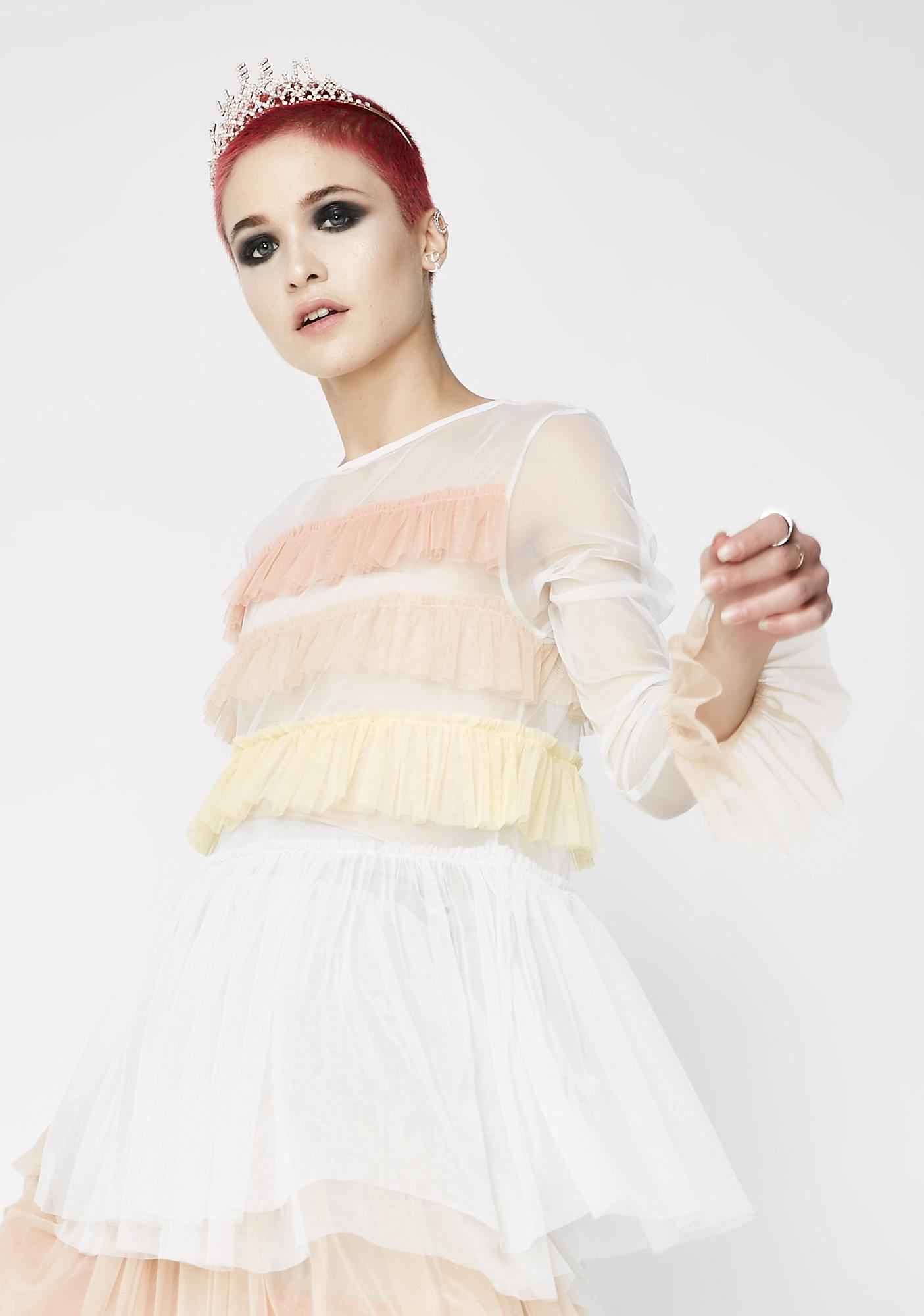 Glamorous New Princess Ruffle Top