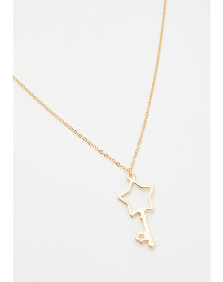 Key To The Stars Chain Necklace