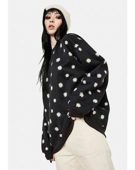 Taliya Daisy Print Sweatshirt