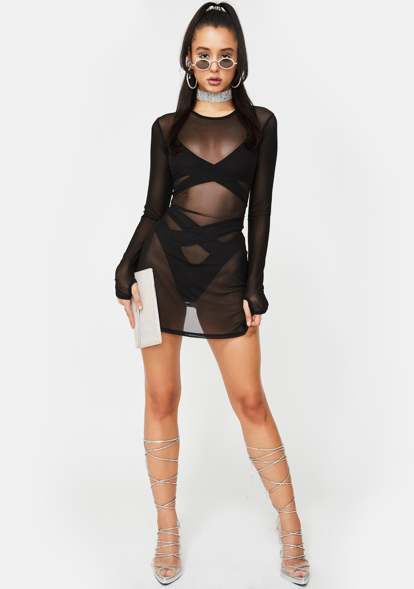 Poster Grl Envy Me Sheer Lingerie Set