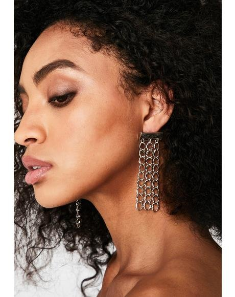 Dangerous Ego Chain Earrings