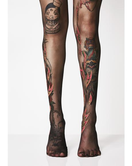 Bringin Heat Flame Tights
