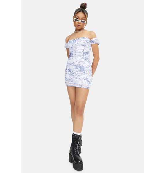 Motel Cherub Mesh Gaina Mini Dress
