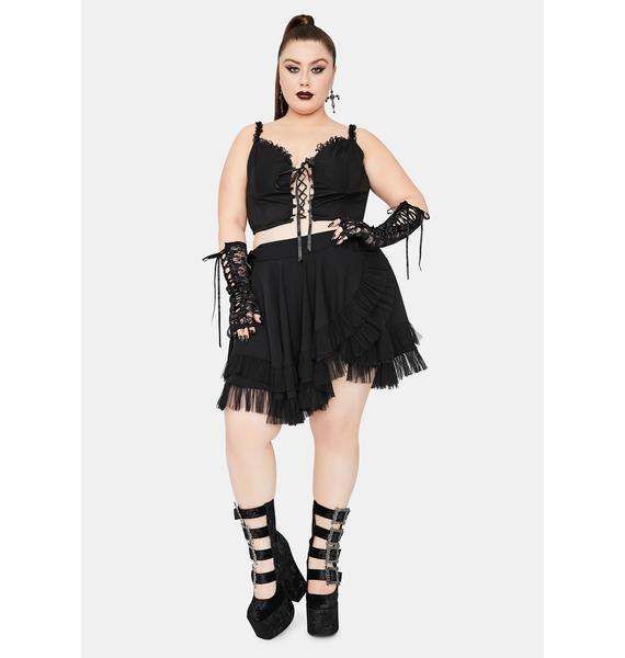 Widow Infinite Chaos Magic Wrap Mini Skirt