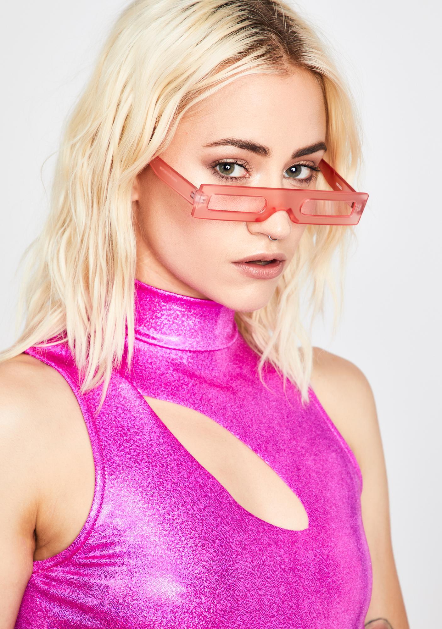 Retro Rich Betch Rectangle Sunglasses