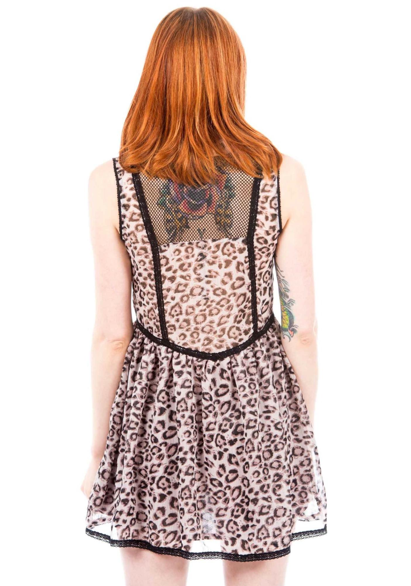 Under The Table No Sleeve Leopard Dress