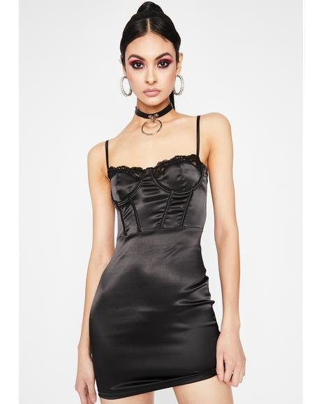 Last Lover Satin Bodycon Dress