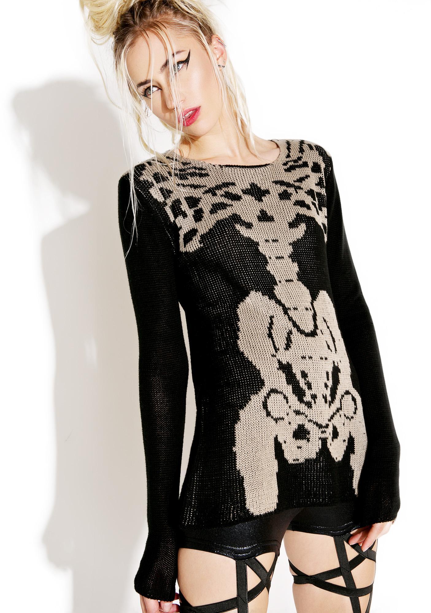 Tripp NYC Rib Cage Sweater