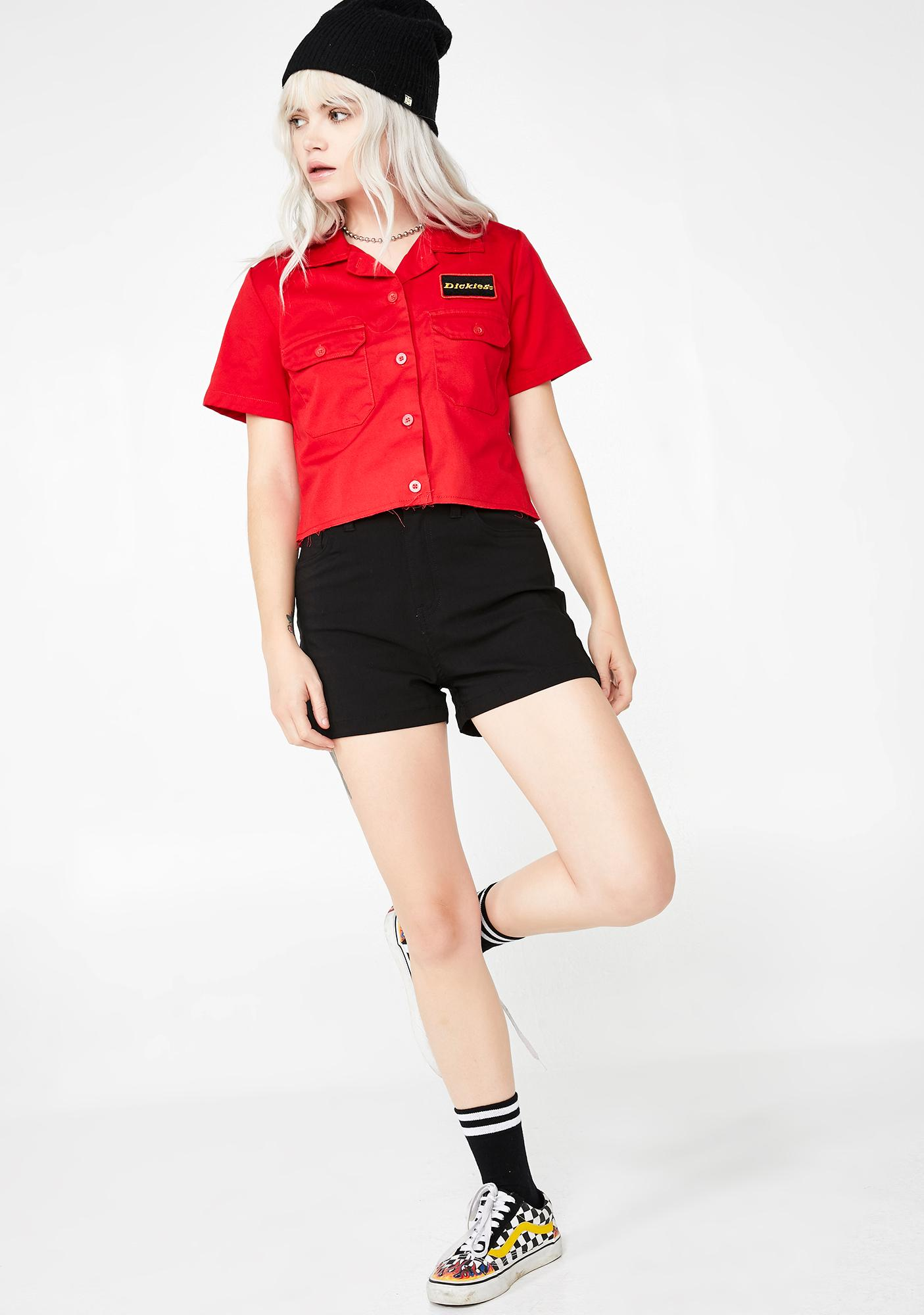 Dickies Girl High Rise Stretch Shorts