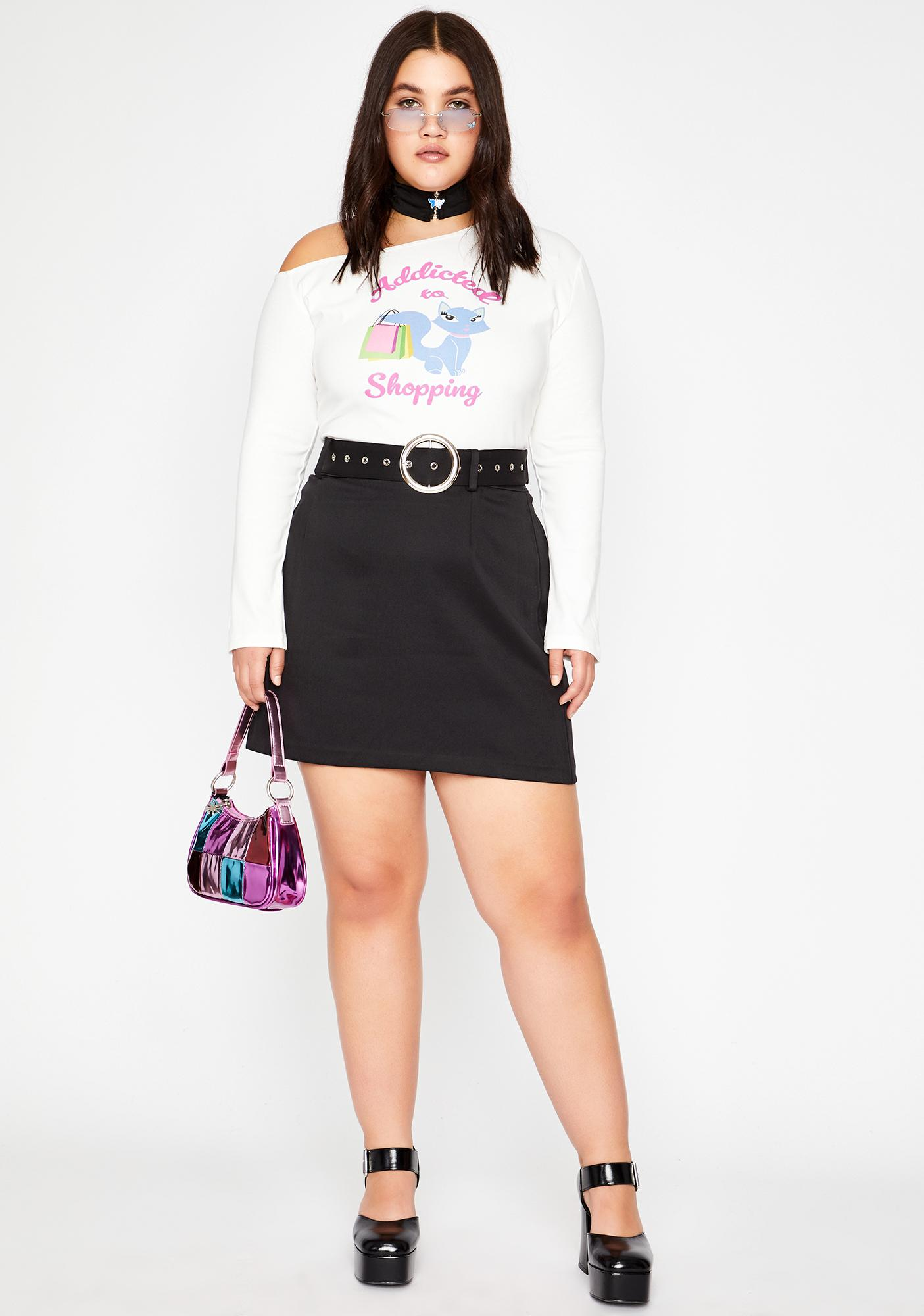 dELiA*s by Dolls Kill She's A Total Shopaholic Graphic Tee