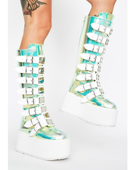 UV Glitter Morpheus Platform Boots