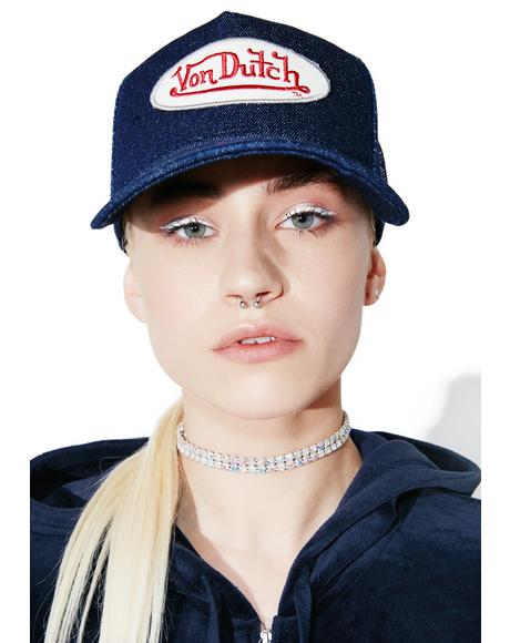 Denim Logo Trucker Hat