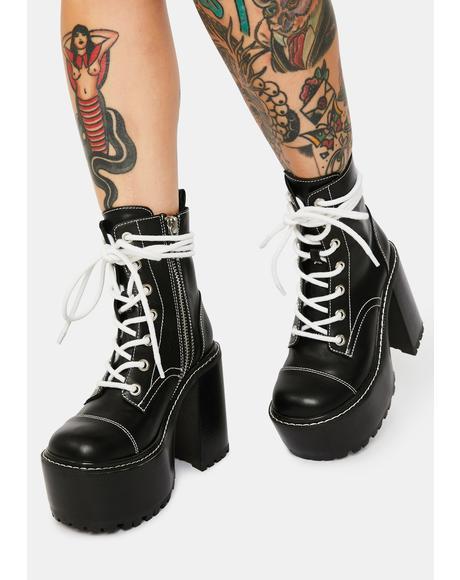 Popular Grunge Platform Boots
