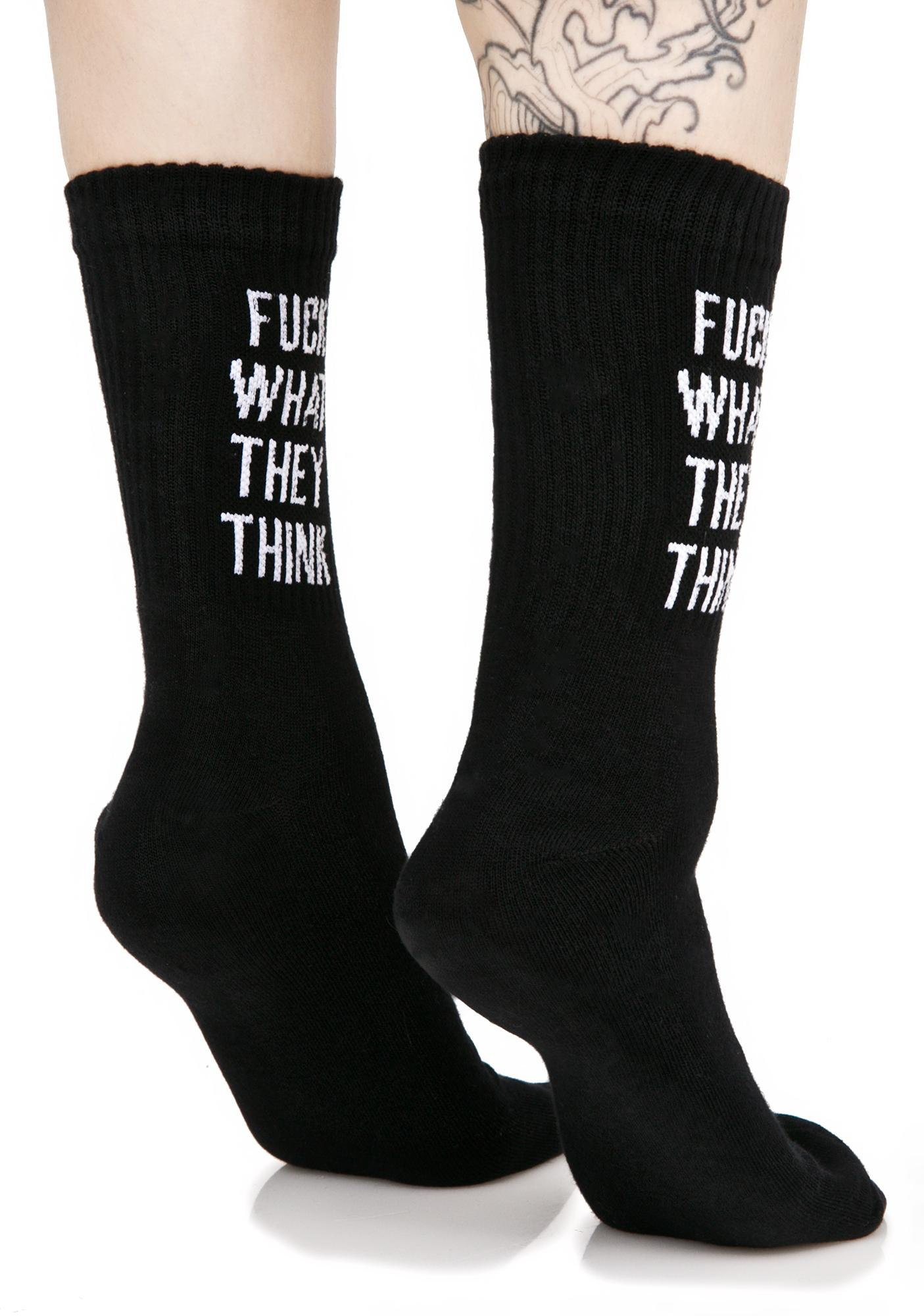 Killstar Up Yours Ankle Socks