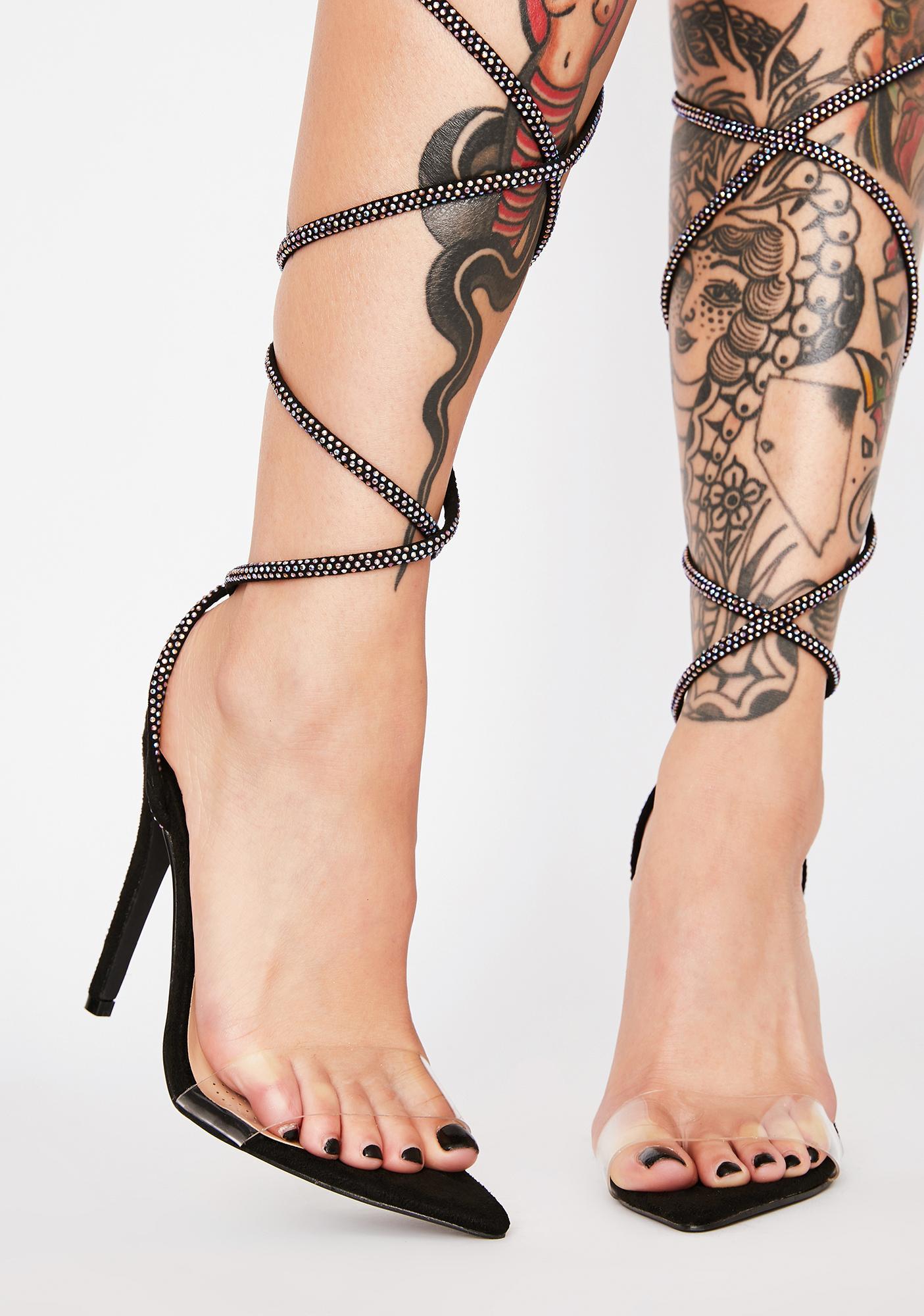 AZALEA WANG Brady Lace Up Heels