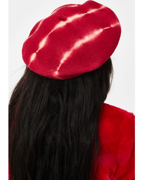 Offbeat Tide Tie Dye Beret