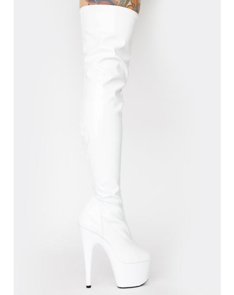 Club Strut Thigh High Boots