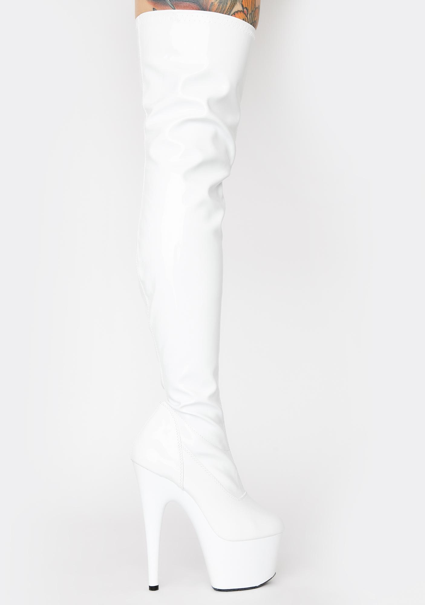 Pleaser Club Strut Thigh High Boots