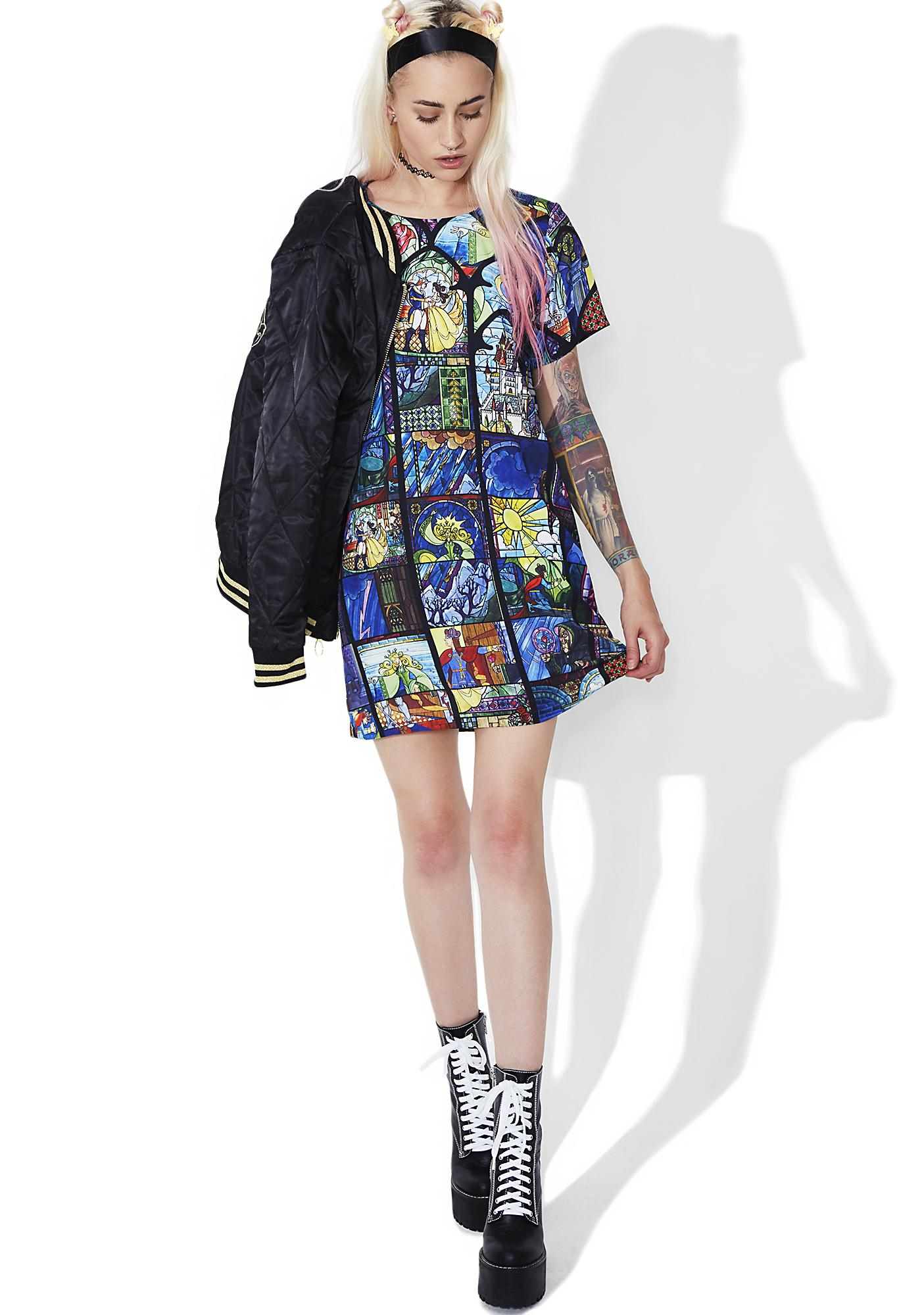 Mink Pink Ever After Stained Glass Tee Dress