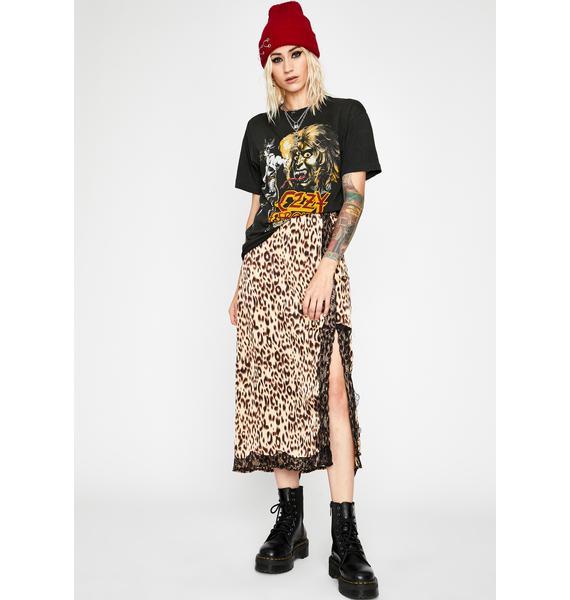 Mad Meow Midi Skirt
