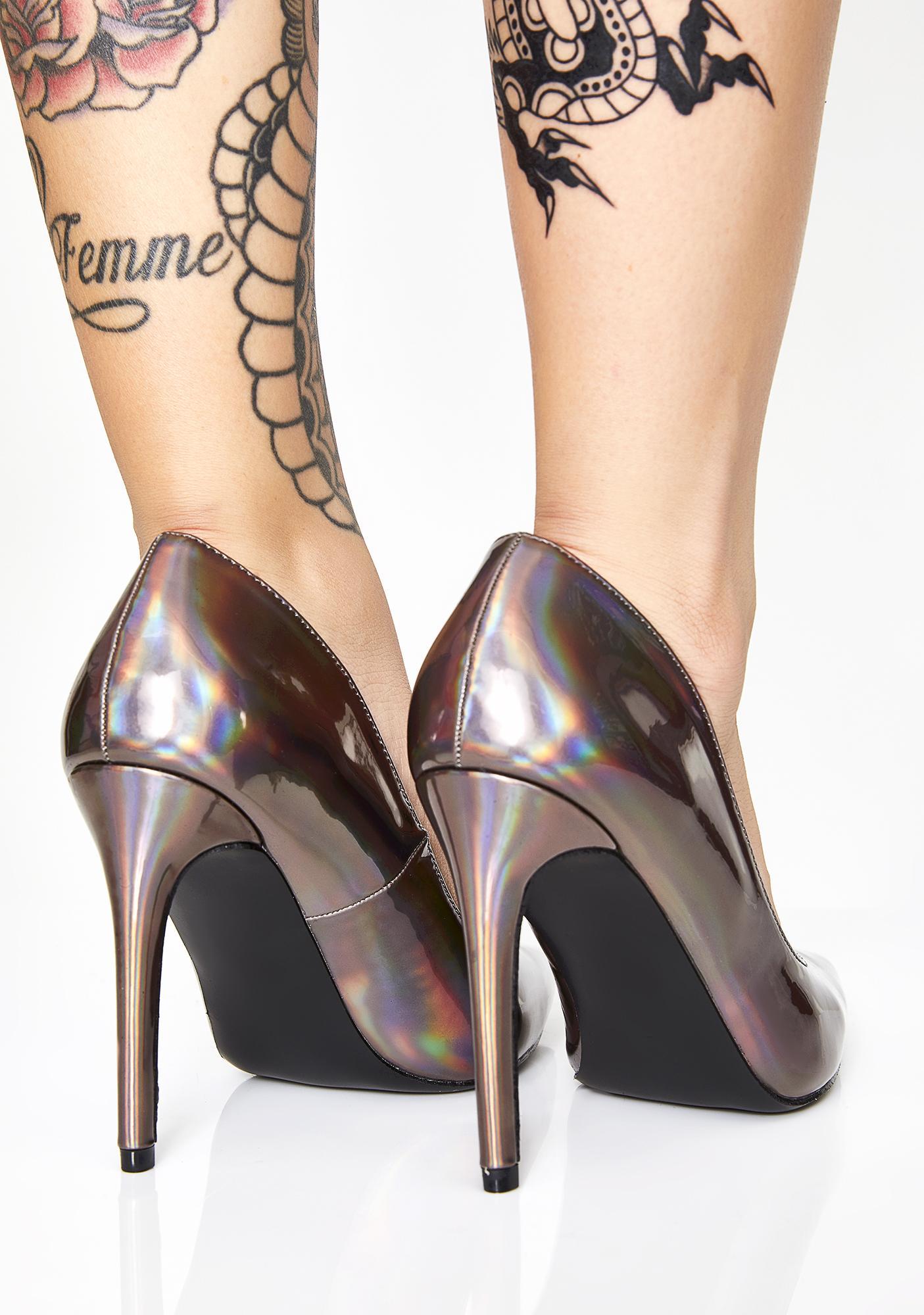 Cosmic Fantasy Hologram Heels