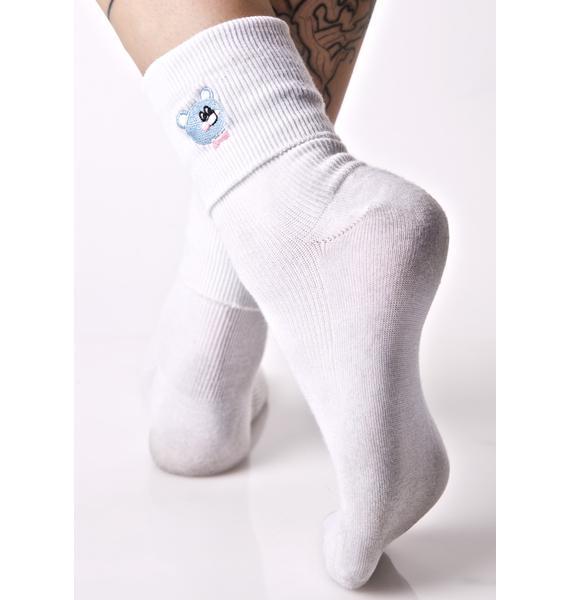 Lazy Oaf Nobody Bear Socks