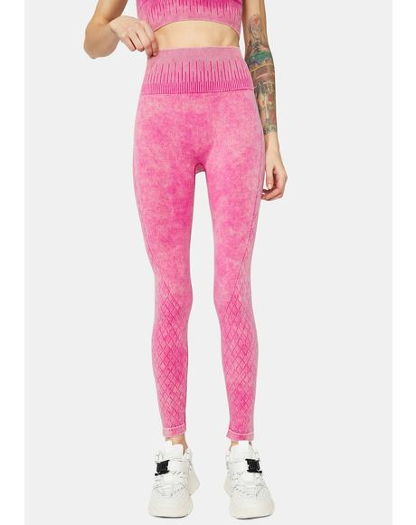 Fuchsia Take U Down Seamless Active Leggings