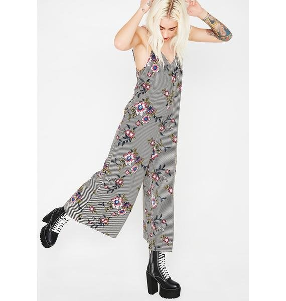 Summer Blooms Crop Jumpsuit
