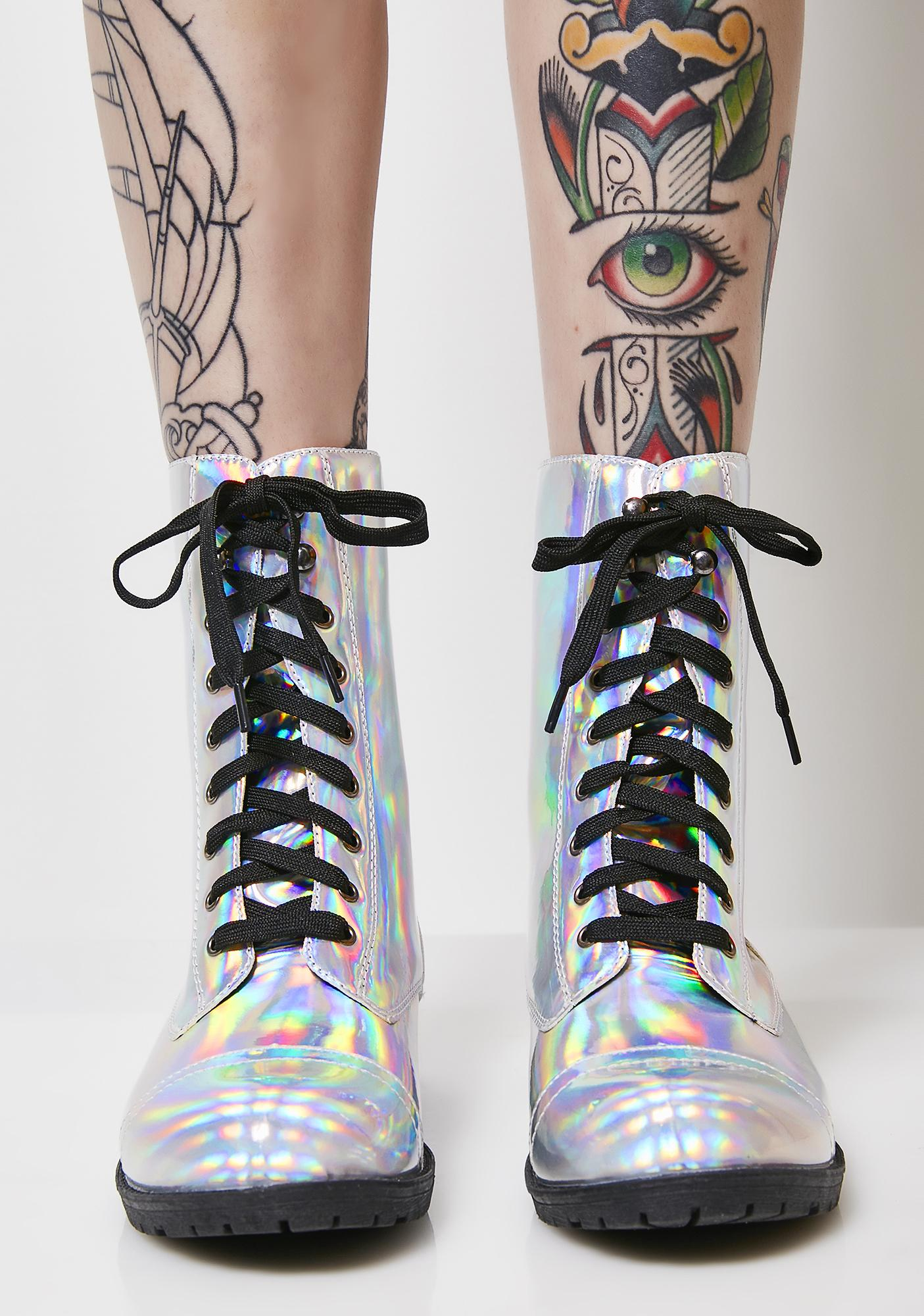 I Am Ur Leader Hologram Boots