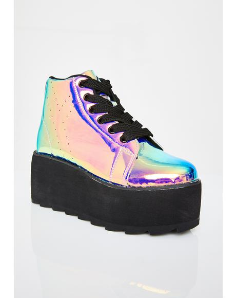 Lala Hi Atlantis Platform Sneakers