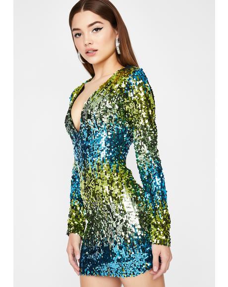 Blurry Nights Sequin Mini Dress