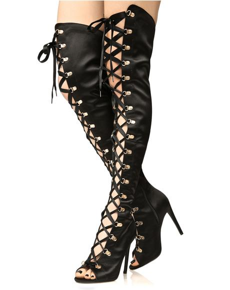 Midnight Enchantress Thigh-High Boots