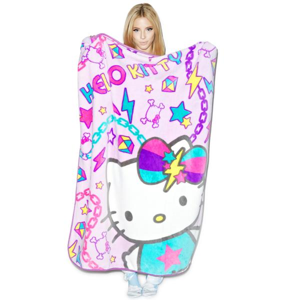 Sanrio Pastel Pop Hello Kitty Blanket