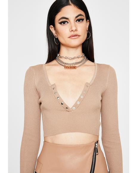 Honey Down To Chill? Crop Top