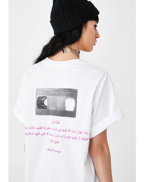 Farsi VHS Tape Graphic Tee