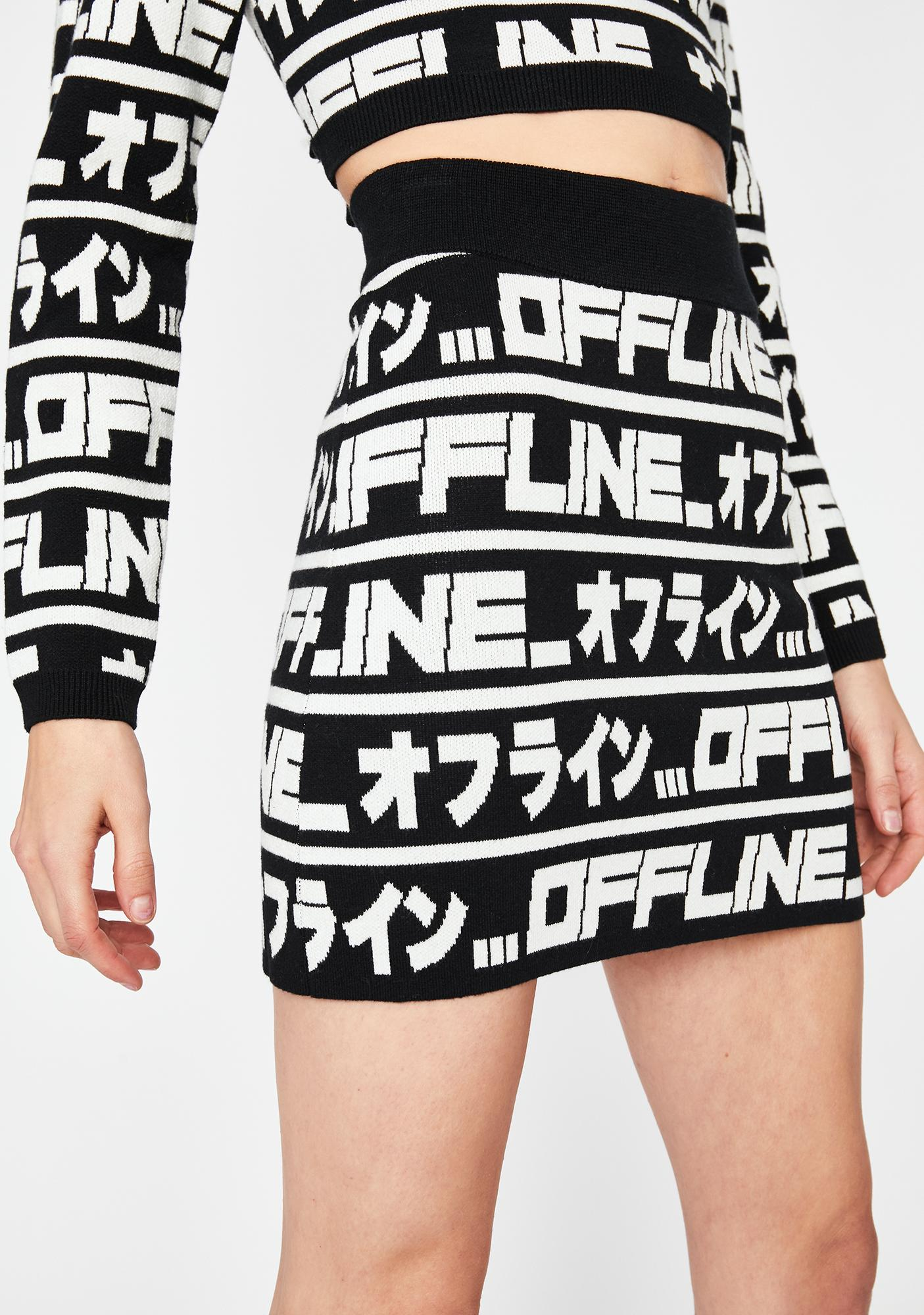 Current Mood Logged Out Sweater Skirt