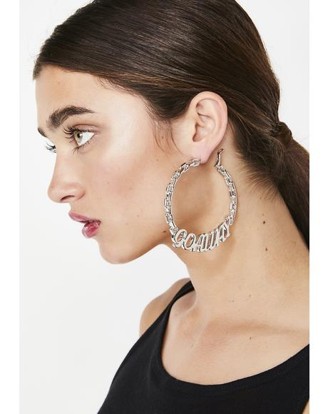 Go Away Hoop Earrings