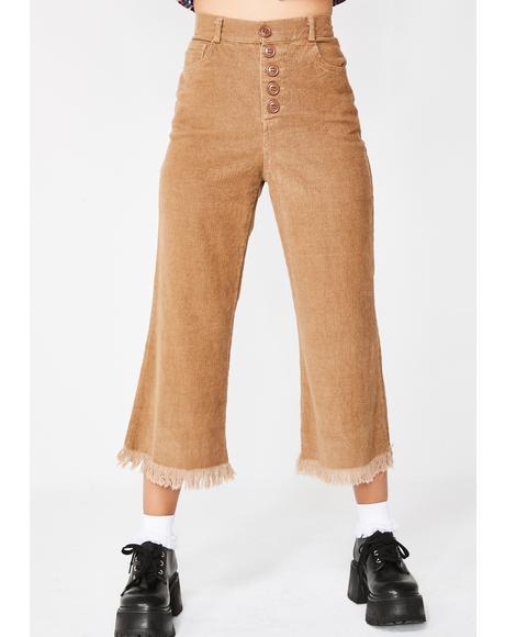 Mocha Flanderz Wide Leg Jeans
