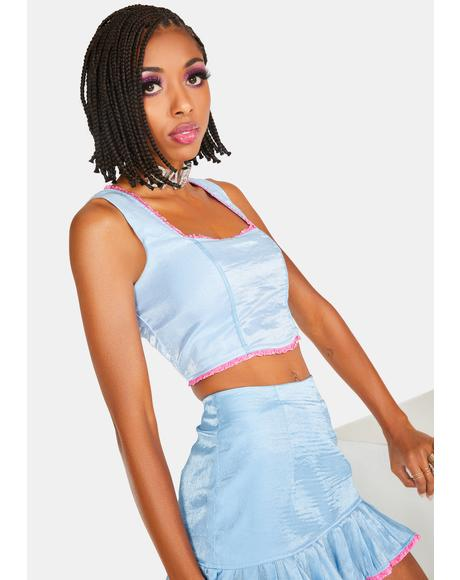 Baby Blue Billie Crop Tank Top