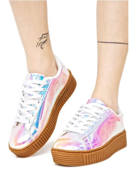 Arcadia Holographic Creeper Sneakers
